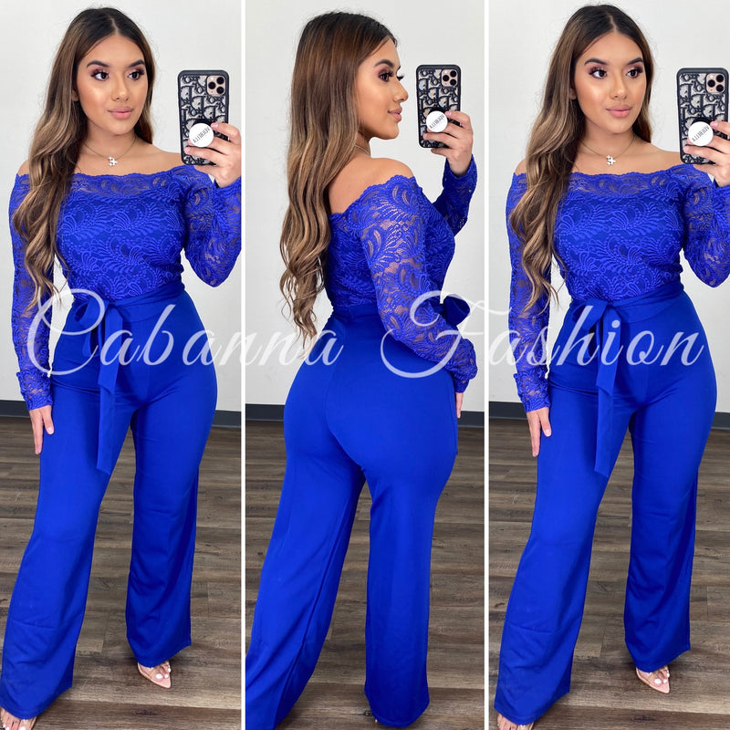 Good Scene Couture Jumpsuit - (ROYAL BLUE)