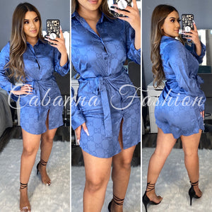 GIANNO DRESS TOP - (BLUE)