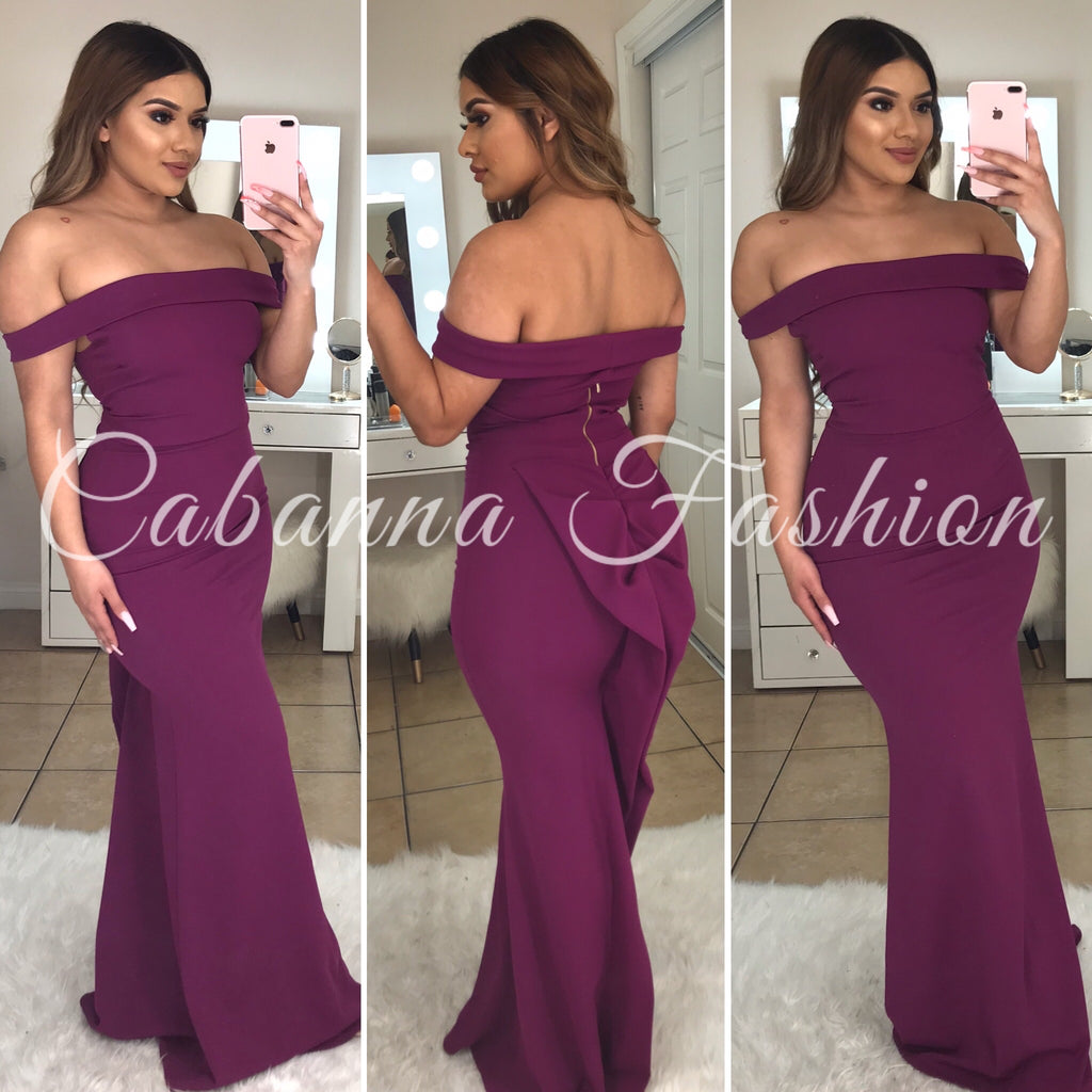Gala Entrance Gown - (MAGENTA)