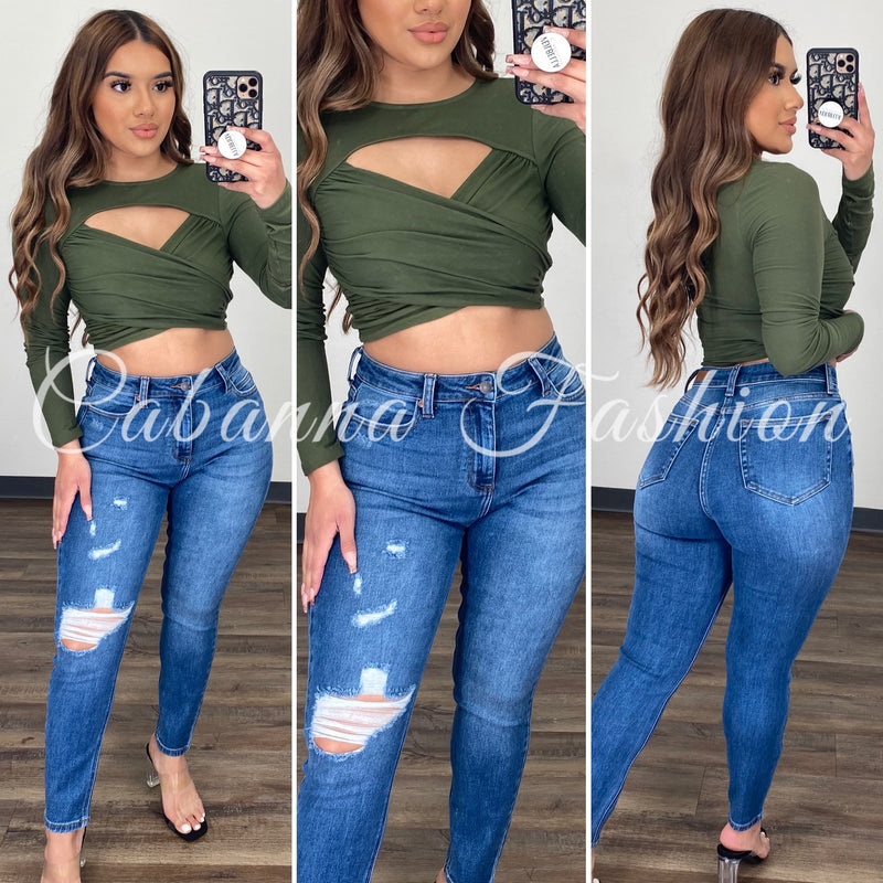 Kelly Top - (OLIVE GREEN)
