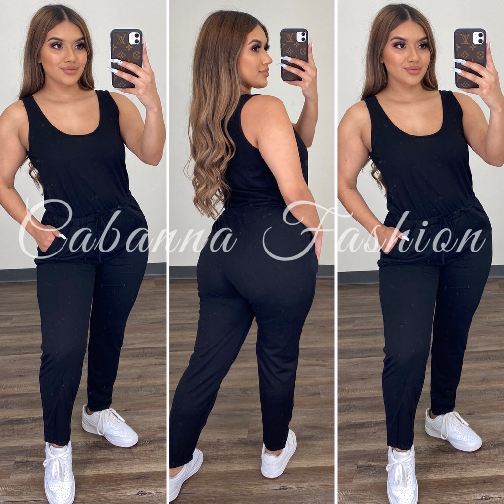 Judith Jumpsuit - (BLACK)