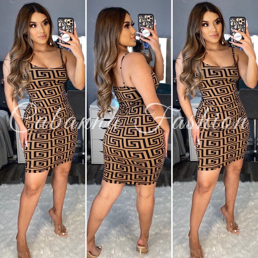 Fernanda Midi Dress - (BROWN)