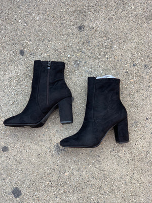 City Girl Booties - (BLACK)