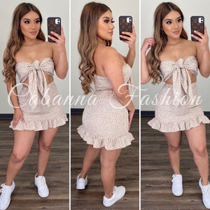 Take It Back Skirt Set - (CREAM)