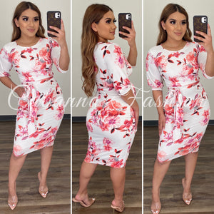 Garden Escape Dress - (IVORY)