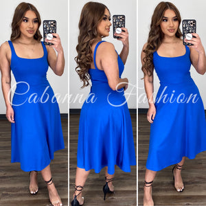 Long Story Couture Dress - (ROYAL BLUE)