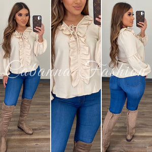 Nila Top - (LIGHT BEIGE)