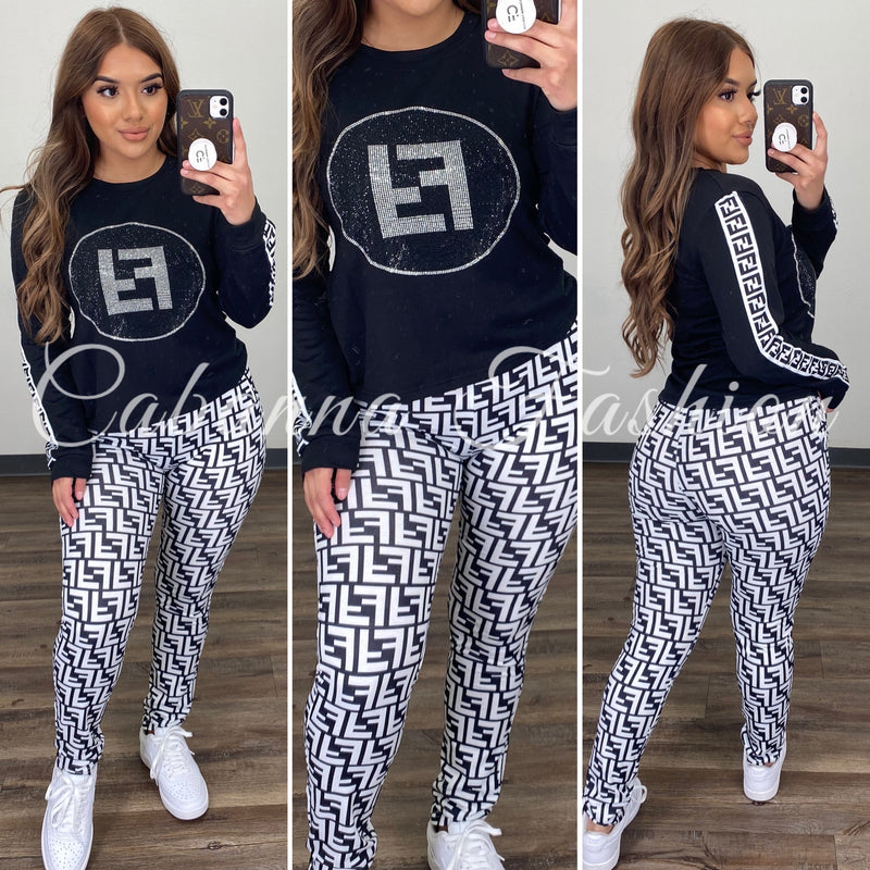 Frankie Pant Set - (BLACK)