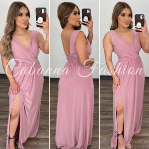 Shawnie Maxi Dress - (MAUVE)