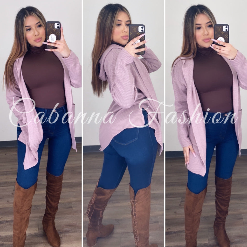 Chill With Me Cardigan - (Lilac)