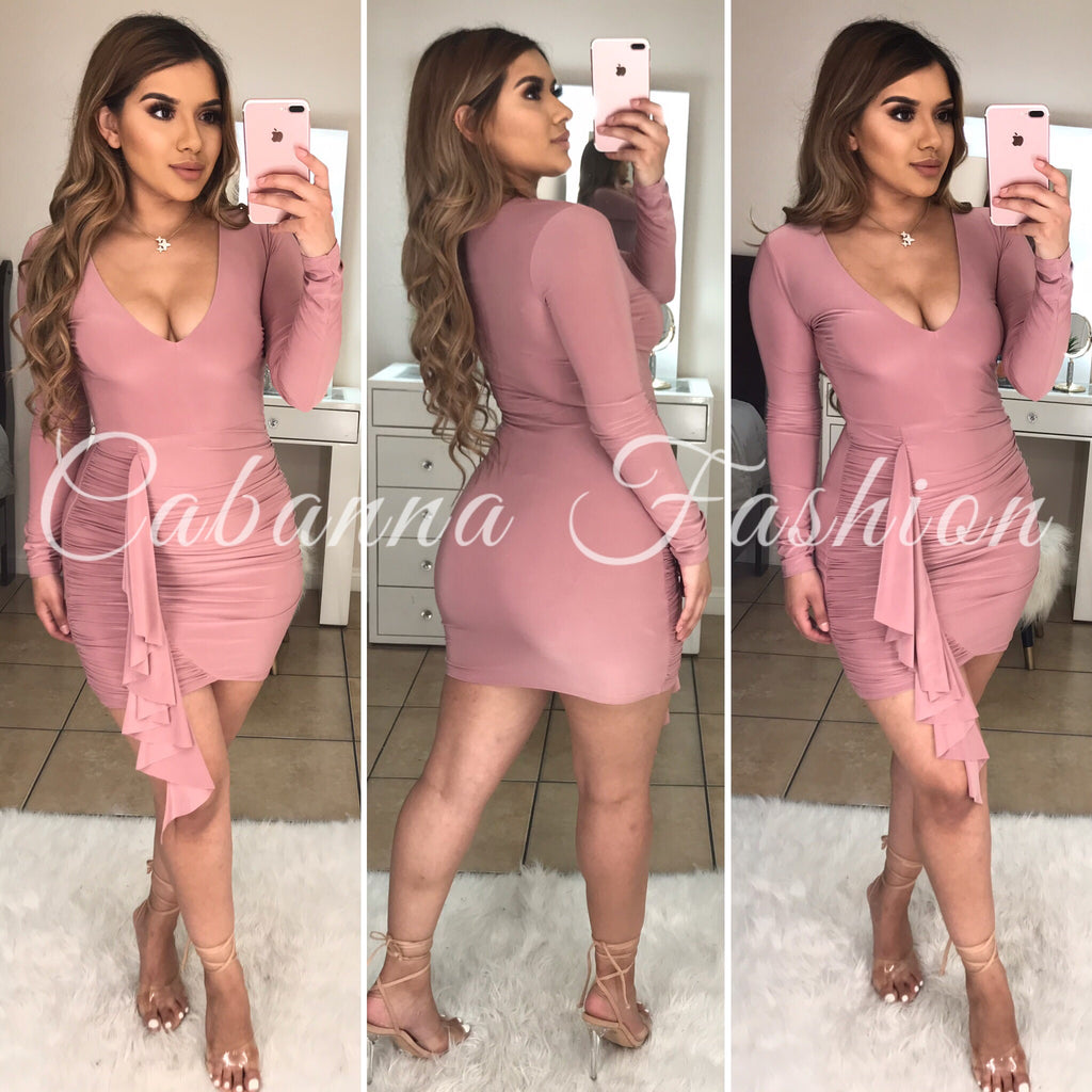 Zuleima Dress - (MAUVE)