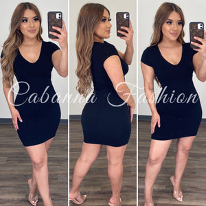 Robin Dress - (BLACK)