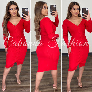 Jude Dress - (RED)