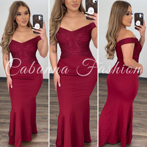 Aure Couture Gown - (RUBY)
