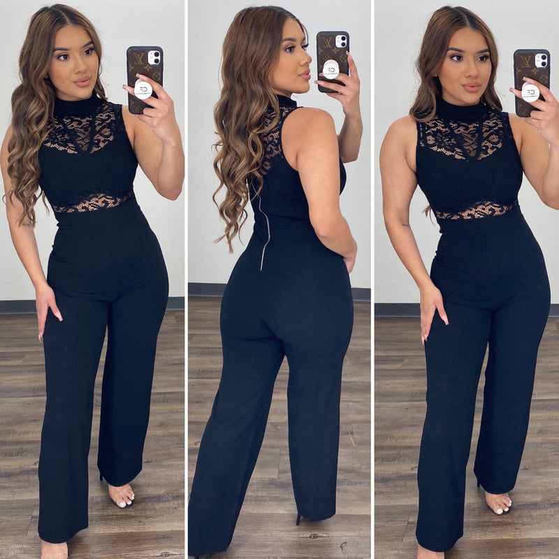 Miriam Couture Jumpsuit - (BLACK)