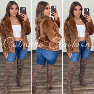 FROM THE BRONX FUR JACKET - (BROWN)