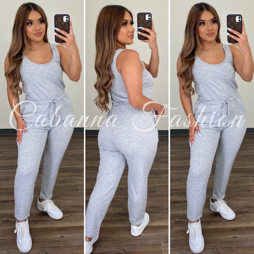 Judith Jumpsuit - (HEATHER GREY )