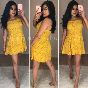 Just For Fun Dress - (YELLOW)