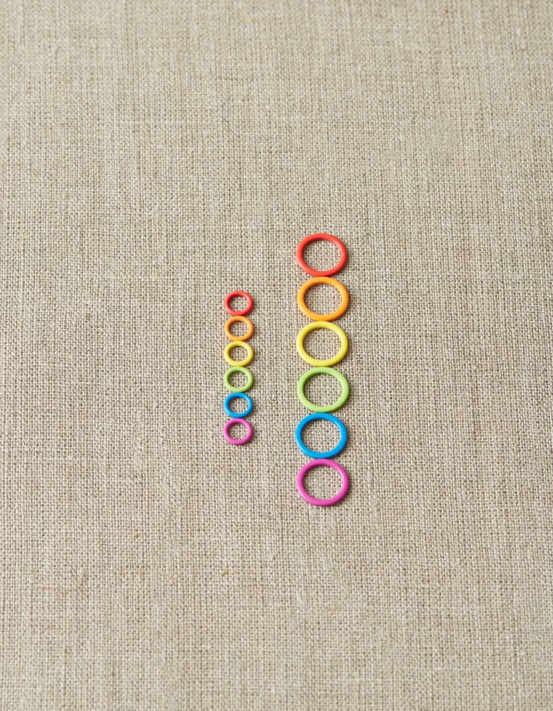 Colored Ring Stitch Markers - Small