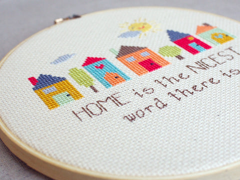 Home Cross Stitch Pattern
