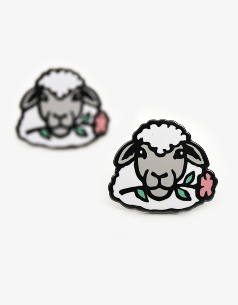 Botanical Sheep Pin - Grey