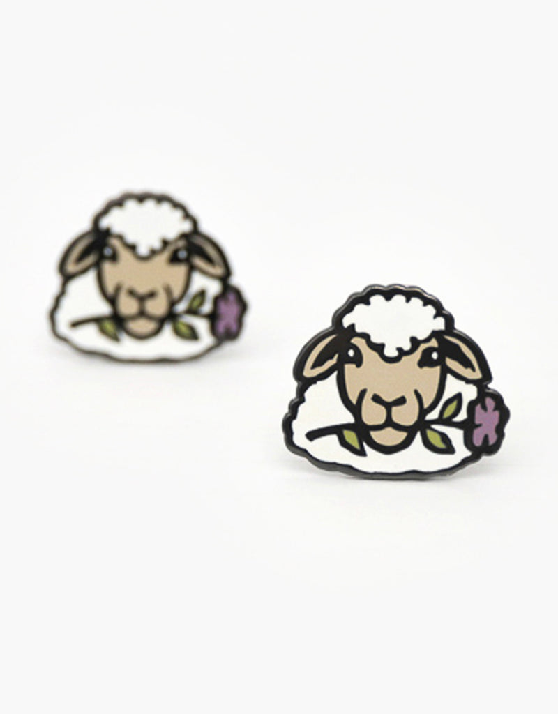 Botanical Sheep Pin - Brown