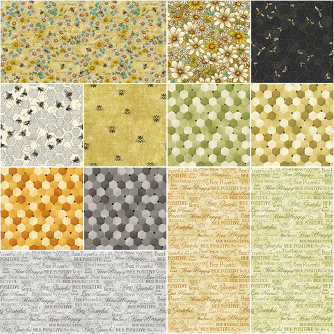 Bee King Fat Quarter Bundle (12 pieces)