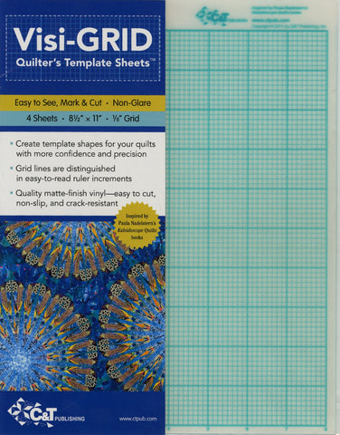 Visi-Grid Quilter's Template Sheets (4 per pack)
