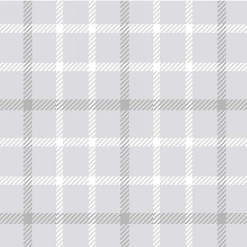 Local Colour Flannel - Small Grey Plaid