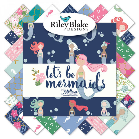 "Let's Be Mermaids - 5"" Squares"
