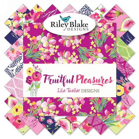 "Fruitful Pleasures 5"" Squares"