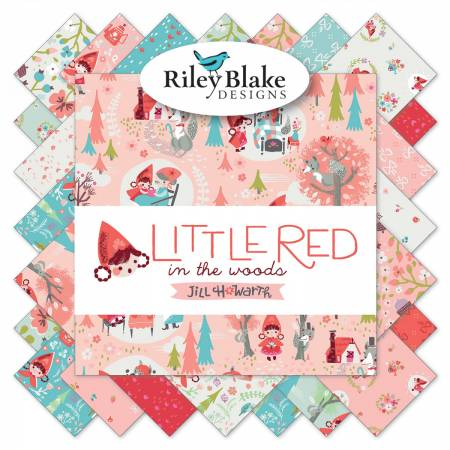 "Little Red in the Woods - 5"" Squares"