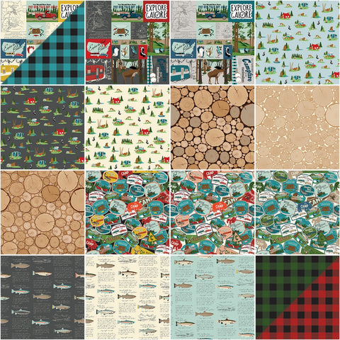 "Gone Camping - 5"" Squares"