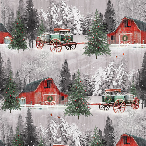 Multi Barn Scene - Holiday Wishes