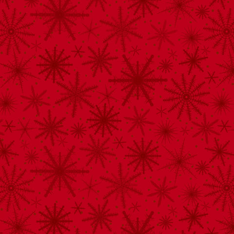 Red Snowflake - Holiday Wishes