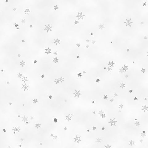Gray Tiny Snowflake - Holiday Wishes