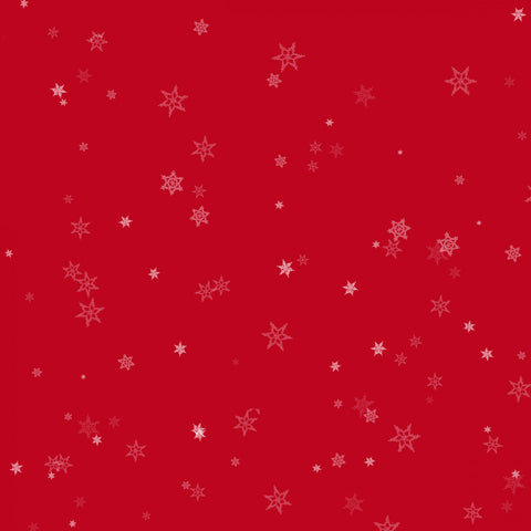 Red Tiny Snowflake - Holiday Wishes