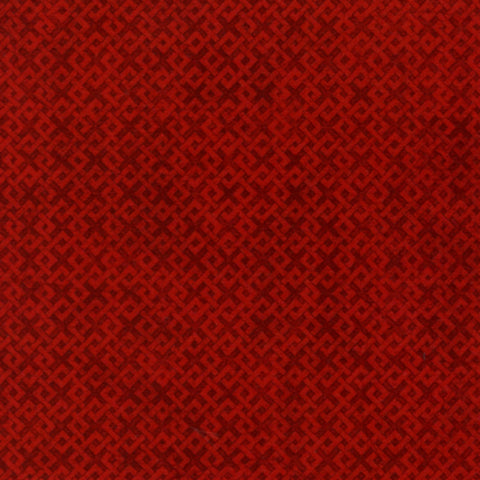 Criss Cross Texture - Dark Red