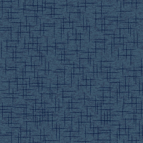 Make Yourself at Home - Deep Navy Linen Texture