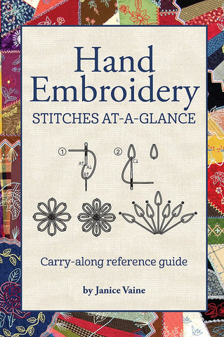 Hand Embroidery Stitches At-A-Glance Pocket Guide