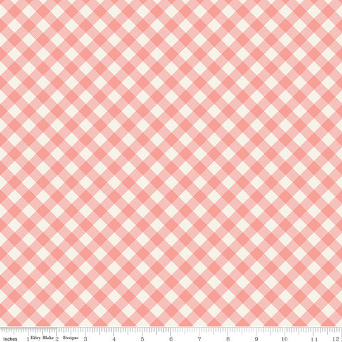 Gingham Gardens Check Coral