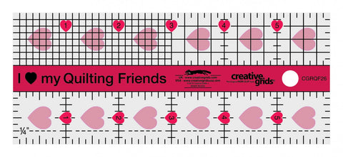 Creative Grids I Love My Quilt Friends Mini Quilt Ruler