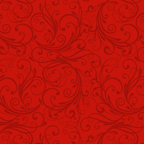 Red Swirl - Flannel