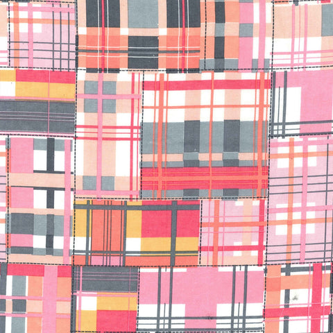 Pink Madras Patch Flannel