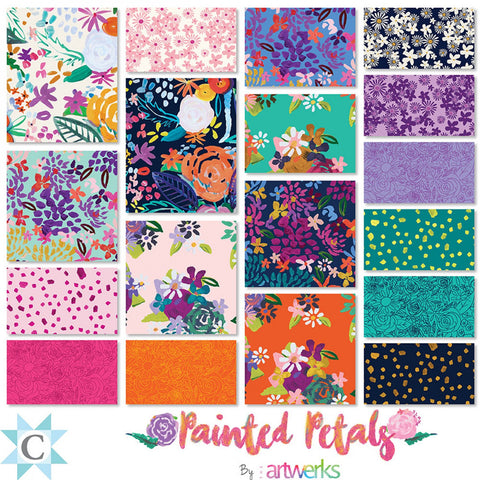 Painted Petals Fat Eighth Bundle