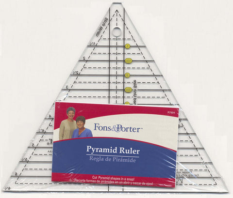 Fons & Porter Pyramid Ruler (60 degree)