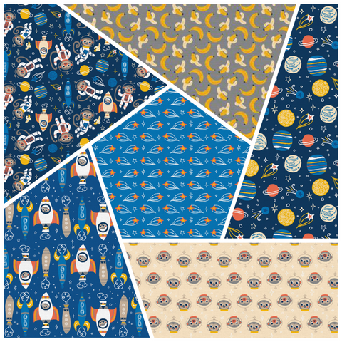 Space Monkey 2 Fat Quarter Bundle