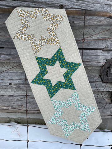 Hollow Star Table Runner - Zoom Class