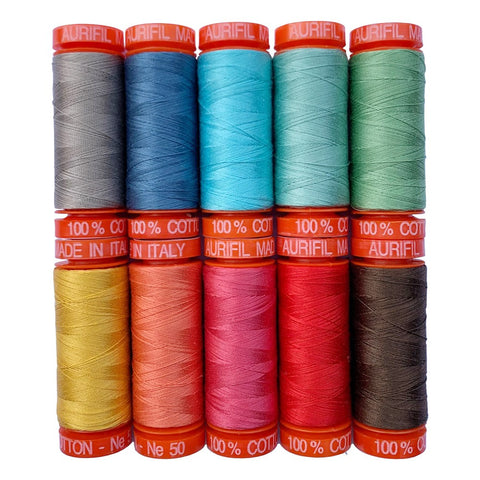 Aurfil Prim Thread Collection 50 wt (10 Small Spools)