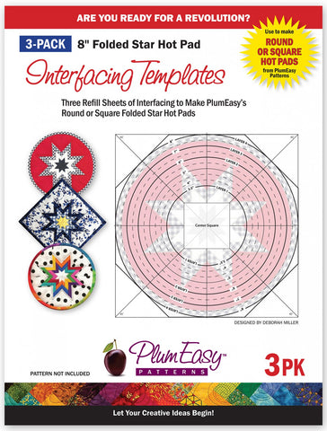 Hot Pad Interfacing Templates 3 pack